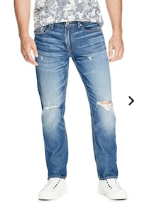 New With Tag Guess Mens Slim Straight Jeans Destroyed at the Knee 31 Vancouver, V6H 4H8