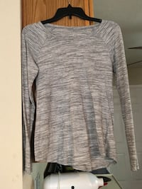 gray space-dyed scoop-neck long-sleeved shirt Belton, 76513