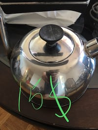stainless steel and black kettle Montréal, H2E 2L1