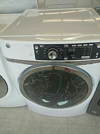 white and gray Whirlpool front-load clothes washer Mount Clemens, 48043