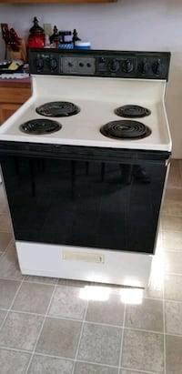 white and black electric coil range oven North East, 21901