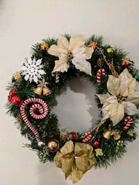 white, green, and red floral wreath Kansas City, 66106