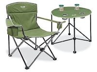 Camp chair and table combo