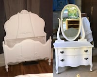 Antique French provential twin bed and princess vanity Gainesville, 30501