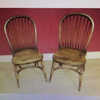 two brown wooden windsor chairs Washington, 20004