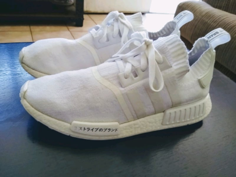 Used Adidas Nmd R1 Triple White Japanese Sneakers For Sale In
