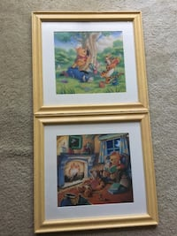 Two hangable children's framed pictures Ashburn, 20147