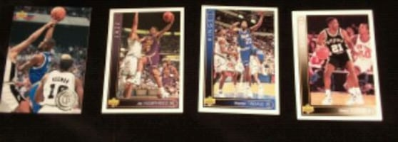 4 Basketball trading cards
