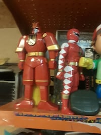 two Power Rangers action figures