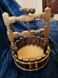 Small wooden fruit press