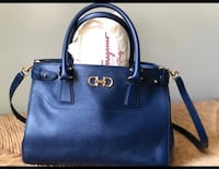 Blue Ferragamo  leather 2-way handbag Toronto, M4S 1M8