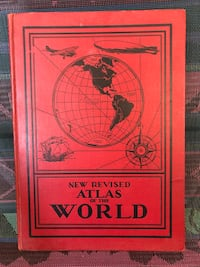 "1934 antique ""The revised Atlas of the world"" book. Nice! Hamilton, L8H 4R3"