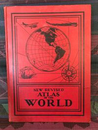 """1934 antique """"The revised Atlas of the world"""" book. Nice."""