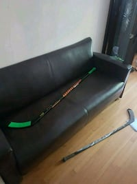 black and green leather padded bench Toronto, M2L 1A1