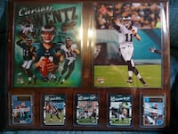 Large Rookie Carson Wentz Eagles Sports Card Plaque Coopersburg