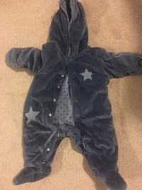 Fleece one piece snow suit for infant Guelph