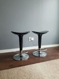 2 Black Bar Stools with Footrest Toronto, M5V 3A6