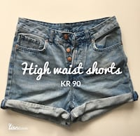 denim highwaist shorts Oslo, 0174
