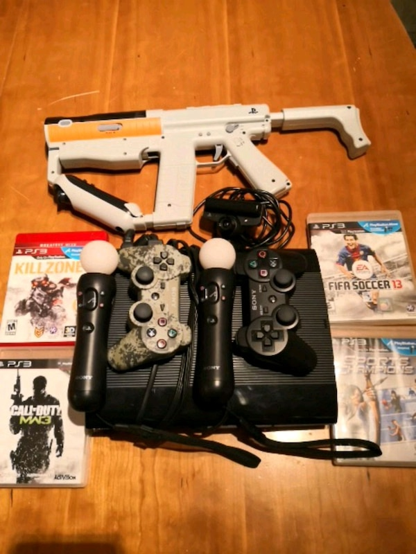PS3 (Play Station 3) + Move + Games