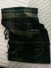 100% Cashmere Blue and Green Plaid Scarf Plainfield, 60585