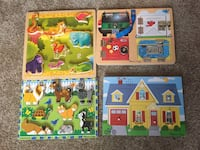 Four Melissa and Doug wooden puzzles Okotoks, T1S 2M4
