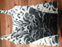 women's white and black printed tanktop Nanaimo, V9R