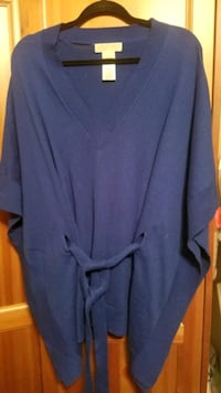Michael Kors Front Tie Tunic Sweater Size L/XL Pine Beach, 08741