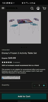 Frozen 2 table and chair set