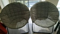 two brown and gray moon chairs Cambridge, 02138