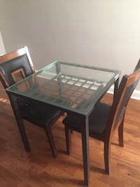 IKEA dining table and two misc chairs Baltimore