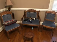 Antique chairs set of 3. Blue in color. All for $200 but can be negotiable. Pick up in Fuquay-Varina  Fuquay-Varina, 27526