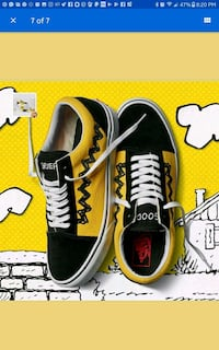 New with box Vans Peanuts Kids Sz 2