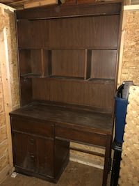Brown wooden cabinet with hutch  Spartanburg, 29307