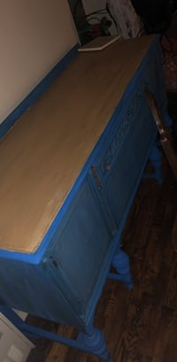 Blue and gray metal bed frame New York, 10468