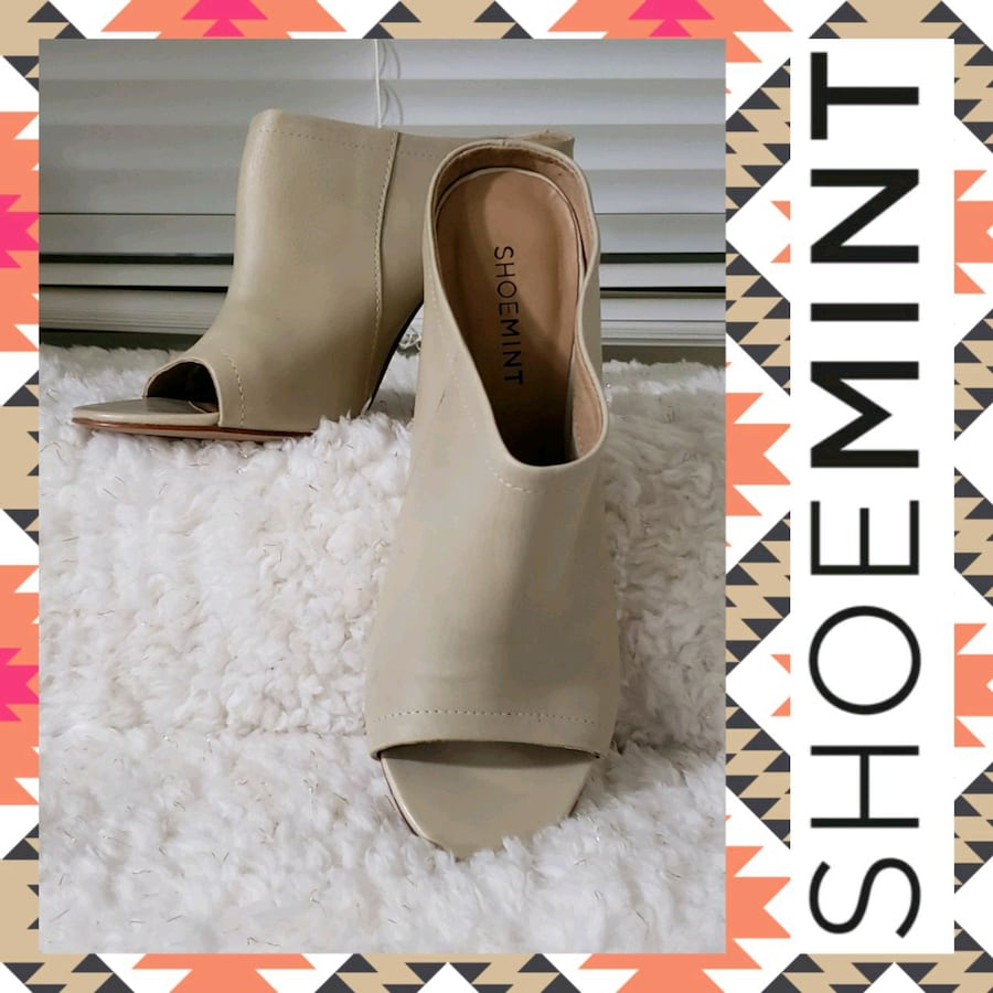 Shoemint Miller Leather Peep-Toe Dress Mules 7b1ce05f-8374-42d3-9044-d7f4bc7390b7