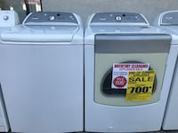 white-and-gray Samsung washer and dryer set 2356 mi