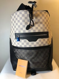 Louis Vuitton Leather Matchpoint Backpack lap top. Charlotte, 28213