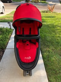 red and black jogging stroller - Baby Jogger SANDIEGO