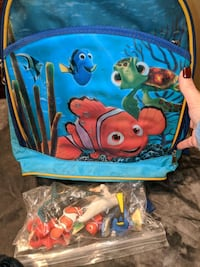 Nemo figurines and backpack