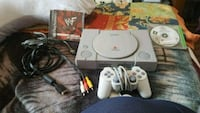 white Sony PS1 console with controller Toronto, M4J 1Z7