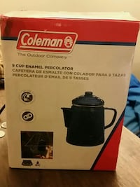 9 cup enamel percolator never used  3157 km