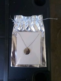 Silver necklace with Crystal in pendent Hamilton, L8V 1C7