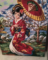 Handmade needlepoint without frame. Laval, H7W 4E3