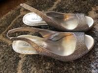 Lula Townsend chunky silver sparkle heels Federal Way, 98003