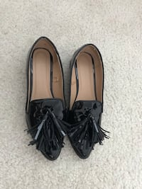 Black Leather Tassel Loafers Melrose, 02176