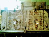 Hand crafted wood wall decor for hanging bath towels hats or jackets SANANTONIO