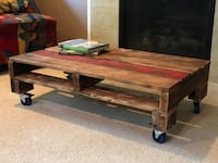 Pallet coffee table, red strip Olympia, 98501
