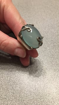 .925 silver with large oval light blue stone ring Vancouver, 98665