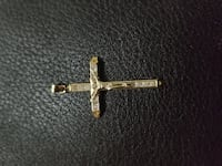 Brand New 10k Yellow Gold CZ Crucifix Jesus Pendant Burnaby