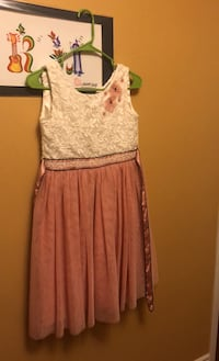 Girls Pink and white Frock / Dress  Mississauga, L5V 0A5